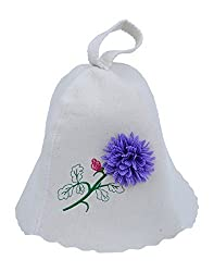 Filzhut blaue Blume